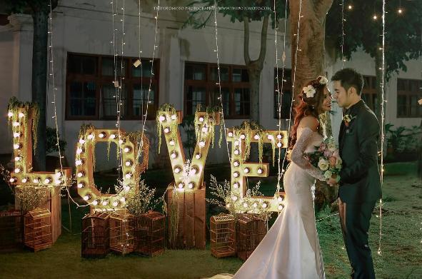 dekorasi wedding outdoor ornamen thepotomoto ig